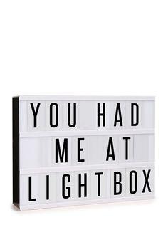light box, BLACK