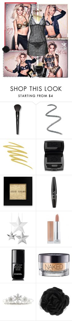 """""""Tezenis"""" by clariworld ❤ liked on Polyvore featuring moda, Lancôme, Topshop, Stila, Bobbi Brown Cosmetics, NYX, Chanel, Urban Decay, Monsoon y Accessorize"""