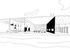 SANAA_Competitions sketches_De Kunstlinie, Theatre and Cultural centre, Netherlands