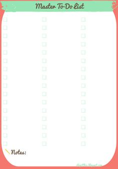 Oh, I Got This!: Free Printable Planner: Master To-Do and Shopping Lists