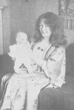 Rose O'Neill with her Kewpie doll