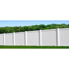 Shop Gatehouse Arborley White Flat Top Privacy Vinyl Fence