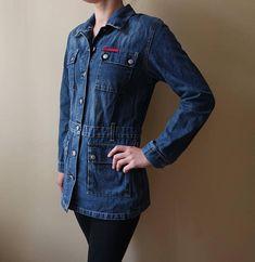 a641b545 Vintage Lee Cooper Denim Jacket Blue Jeans Jacket 80s 90s Jeans Wear Long  Denim Jacket Lee Cooper Wo