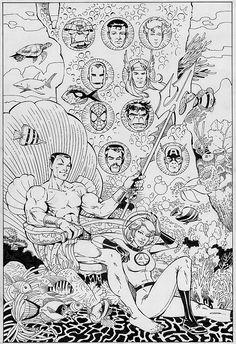 Defenders Marvel, Illustrators, Comic Books, Image, Illustrator, Cartoons, Comics, Illustrations, Comic Book