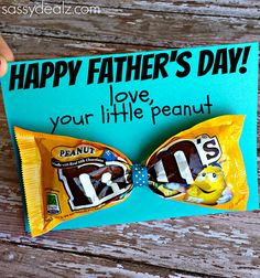 m&m tie fathers day card