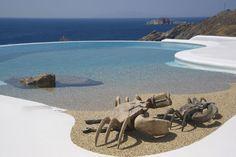 beach entry infinity pool