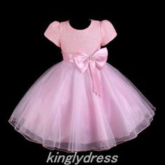 NEW-Flower-Girl-Pageant-Wedding-Bridesmaid-Party-Princess-Dress-Pink-SZ-4T-Z134A
