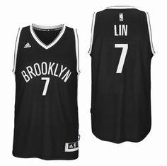 Brooklyn Nets #7 Jeremy Lin 2016 Road Black New Swingman Jersey