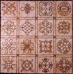 celtic knots (possibly cross stitch)