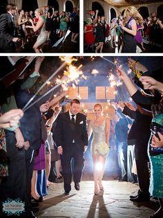 I want this exit! How glamorous! Atlanta Wedding, Wedding Reception, How To Memorize Things, Wedding Photography, Glamour, Entertaining, Concert, Couples, Fun