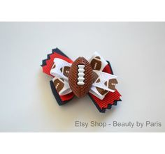 Football Dog Bow You Pick Team Colors by BeautybyParis on Etsy,