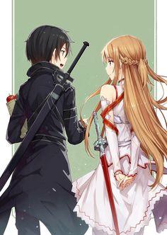 Sword Art Online, Kirito + Asuna, by gabiran