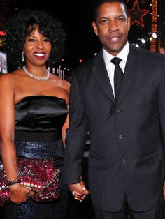 Denzel Washington & Pauletta Pearson