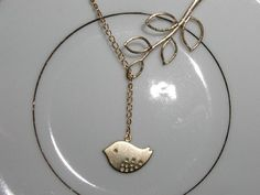 My Little Chickadee Gold Plated Necklace Jewelry Bride/Bridesmaid Wedding/Birthday. $18.00, via Etsy.