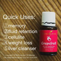 EssentialOil Uses for Grapefruit, Young Living Essential Oils, YLEO, weight loss, cellulite, liver cleanse, fluid retention, fresh, drink