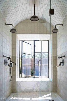 Bathroom layout. Pretty. No window though.