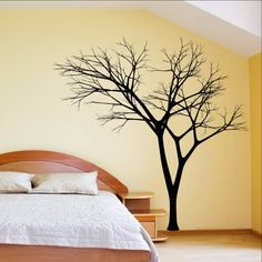 Winter Tree Decal - Bare Tree Style 3 Large Mural Vinyl Wall Decal 22222
