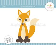 Fox DIY Printable Design for Iron on Transfers by AngelLeaDesigns, $2.50
