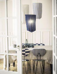 caravane Decor Home Living Room, Home And Living, Home Decor, White Beach Houses, Indigo, Wabi Sabi, Decoration, Blue And White, Ceiling Lights