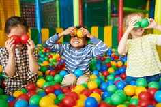Portrait of three funny little kids playing in ball pit and enjoying time in childrens entertainment and play area, copy space Adventure Days Out, Soft Play Area, Stuff To Do, Things To Do, Family Days Out, Family Life, Greater London, Today Show, Entertainment Room