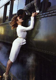 #train #couple