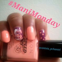 Here is my #Manimonday featuring my new fav color Swift Sherbret from the #Avon #30secspeeddry I also used Pronto Plum from the same line!! :) www.youravon.com/rcfranklin