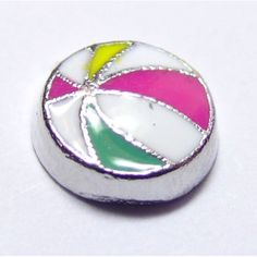 Beach Ball Locket Charm that fits brands including Origami Owl & My Journey Locket. Enamel Beach Ball on zinc alloy. Great looking charms that don't cost a fortune.