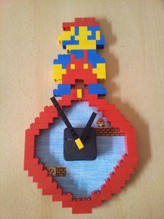 "Lego Kinderwanduhr DIY Type:  ""Super Mario"""