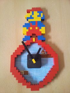 "Lego Kinderwanduhr DIY Type:  ""Super Mario"""