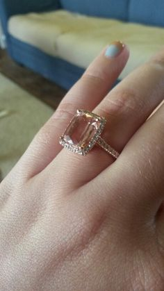 I got my dream engagement ring! Rose gold with morganite