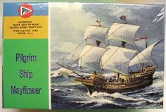 Mayflower Ship Painting | Third box art issue of the original four small kits. All parts are now ...