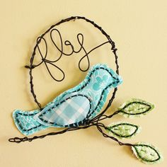 Wire bird ~ material, minimal sewing and wire!
