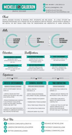Infographics - Infographic Resume by Michelle Calderon