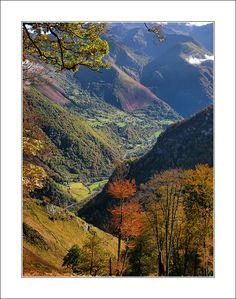 La vue depuis le belvédère de Lescun en automne