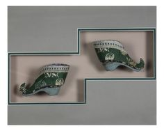 Pair of Chinese Fainting Shoes, Framed : Lot 270A