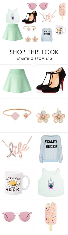 """twin did this"" by annie-hall-barton ❤ liked on Polyvore featuring RED Valentino, Christian Louboutin, Michael Kors, Mixit, Kobelli, Wildfox, Oliver Peoples and Tory Burch"