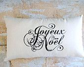 Christmas Pillow, French Country, Joyeux Noel, Paris, French Country Home, Home Decor, Decorative Pillow, Holidays