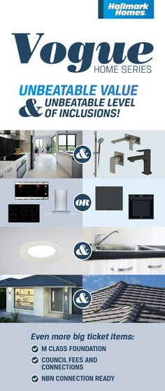 Vogue Series - Our Best Value Range Of Homes Vogue Home, Hallmark Homes, Selling Design, New Home Builders, Affordable Housing, Sunshine Coast, New Homes, House Design, Money
