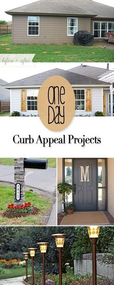 One Day Curb Appeal Projects Easy DIY project you can do in just one day to improve your curb appeal and the value of your home! Treatment Projects Care Design home decor Home Renovation, Home Remodeling, Kitchen Renovations, Kitchen Remodel, Outdoor Projects, Easy Diy Projects, Project Projects, Diy House Projects, Project Free