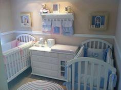 unique nursery room ideas for baby bedroom Nursery Twins, Baby Nursery Decor, Baby Boy Nurseries, Baby Cribs, Nursery Room, Small Twin Nursery, Nursery Ideas, Twin Baby Rooms, Baby Crib Bedding Sets