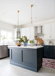 Kitchen Redo, Home Decor Kitchen, Kitchen Living, Interior Design Kitchen, Kitchen Furniture, New Kitchen, Home Kitchens, Kitchen Ideas, Kitchen Cabinets Trends