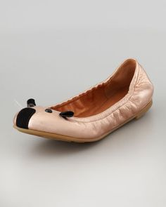 Soft Mouse Ballerina Flat, Rose Gold by MARC by Marc Jacobs at Neiman Marcus.
