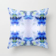 Decorative pillow Blue Pillow Decor geometric pillow by NikaLim