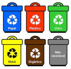 """5 """"Rs"""" do lixo – Helen Bezerra Recycling Games, Recycling Activities For Kids, Science Exhibition Projects, Earth Day Coloring Pages, Spanish Lesson Plans, Green School, Bullet Journal School, Sistema Solar, French Lessons"""