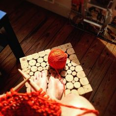 The Cotton in Orange | We Are Knitters