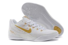 new product 0ea10 47f7c Buy Nike Kobe 9 Low EM White Gold Mens Basketball Shoes Christmas Deals  from Reliable Nike Kobe 9 Low EM White Gold Mens Basketball Shoes Christmas  Deals ...