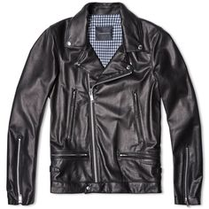 Undercover Leather Biker Jacket (Black)