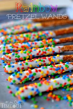 Easy Rainbow Pretzel Wands - Mom On Timeout (scheduled via http://www.tailwindapp.com?utm_source=pinterest&utm_medium=twpin&utm_content=post1438095&utm_campaign=scheduler_attribution)