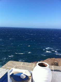 Windy day in Sifnos, Greece