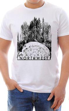 Men's Pacific NorthWest T-Shirt by BrandeeLeafty on Etsy